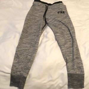 PINK grey sweatpants
